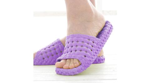 韓版超柔浴室瀝水防滑拖鞋 (女款) 紫色