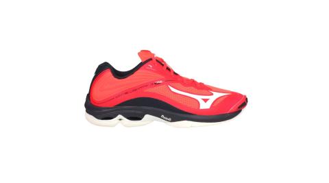 MIZUNO WAVE LIGHTNING Z6 男排球鞋-訓練 美津濃 橘紅黑白@V1GA200063@
