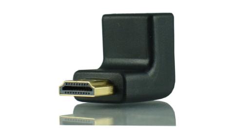 HDMI公-HDMI母轉接頭(90度)