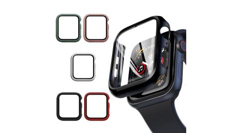 CITYBOSS for Apple watch一體成形式玻璃加保護殻-42mm