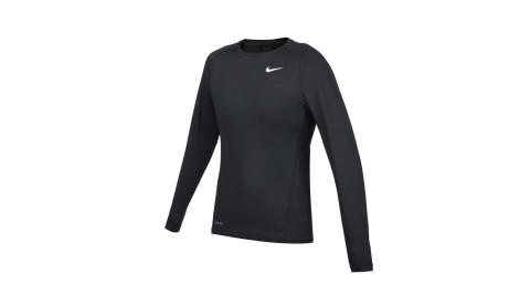 NIKE 男緊身長袖T恤-DRI-FIT 運動 健身 慢跑 上衣 黑白@CV3047-010@