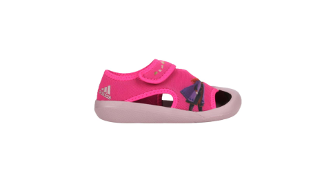 ADIDAS 女小童冰雪奇緣涼鞋-FROZEN 魔鬼氈 護趾鞋 愛迪達 迪士尼 愛莎 桃紅紫@FV4652@