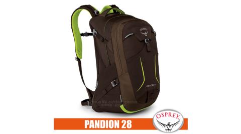 【美國 OSPREY】PANDION 28 輕量多功能口袋休閒後背包28L.日用包/Airspeed™網架通風背板_蜥蜴綠 R