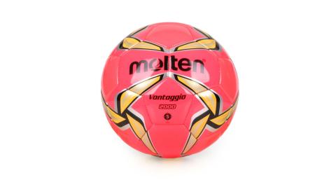 MOLTEN #5合成皮足球-訓練 5號球 螢光粉黃@F5V2000-RY@