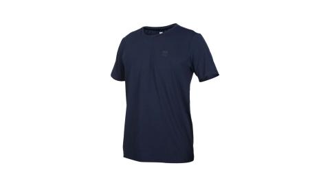 FIRESTAR 男彈性圓領短袖T恤-反光 慢跑 路跑 運動上衣 丈青灰@D0531-93@