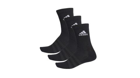 ADIDAS 男女運動中筒襪-三入 襪子 愛迪達 黑白@DZ9357@