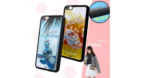 迪士尼正版授權 iPhone 6s/6 Plus 5.5吋 史迪奇布偶版 防滑手機殼 附吊飾孔