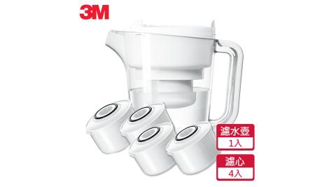 【3M】即淨長效濾水壺WP3000(1壺+4濾心)
