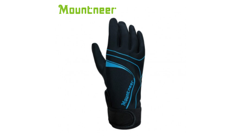 【Mountneer 山林】抗UV印花觸控手套 天藍 11G03-78 防曬手套 機車手套