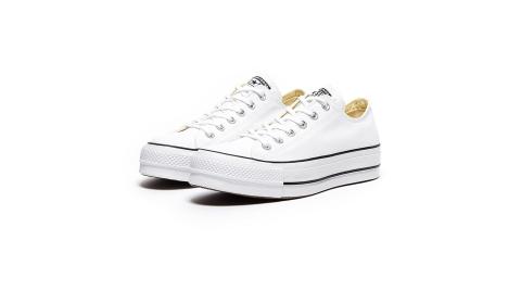 CONVERSE ALL STAR LIFT 白色低筒厚底帆布鞋 560251C