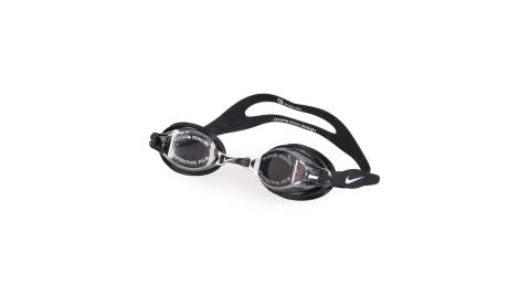 NIKE SWIM 訓練型成人泳鏡-游泳 蛙鏡 訓練 戲水 黑白@NESS7152-001@