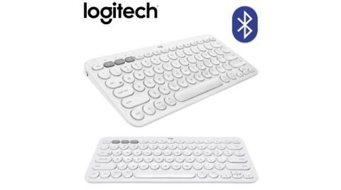 【Logitech 羅技】K380 多工藍芽鍵盤-珍珠白
