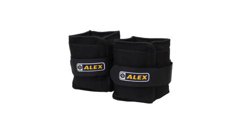 ALEX 4KG 沙包型加重器-台灣製 慢跑 健身 重量訓練 肌力訓練 可拆式 黑@C-4904@