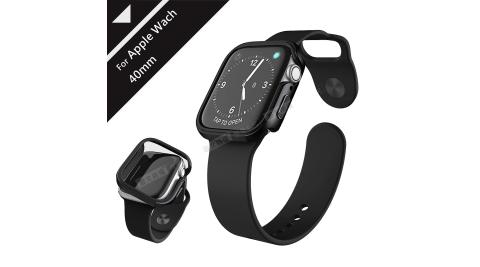 刀鋒Edge系列 Apple Watch Series 4 (40mm) 鋁合金雙料保護殼 保護邊框(經典黑)