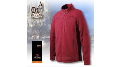 【DEODAR】POLARTEC ↘下殺超低價 時尚男款保暖刷毛外套.休閒外套.透氣 輕盈 排汗_ 31500135 咖啡紅