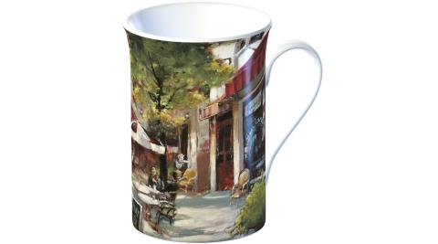 《CreativeTops》單柄骨瓷馬克杯(咖啡館350ml)