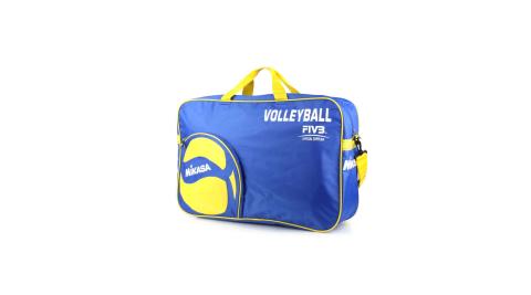 MIKASA 排球袋-6顆裝 手拿袋 手提袋 肩背袋 收納袋 藍黃@MKAC-BG260W-BL@