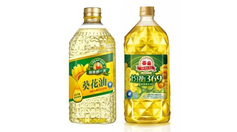 【綜合油品】泰山均衡369健康油(1500mlx1罐)+得意的一天葵花油(1580mlx1罐)2入組