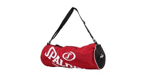 SPALDING 三顆裝球袋-斯伯丁 籃球 側背包 手提袋 收納袋 行李袋 紅白@SPB5314N20@