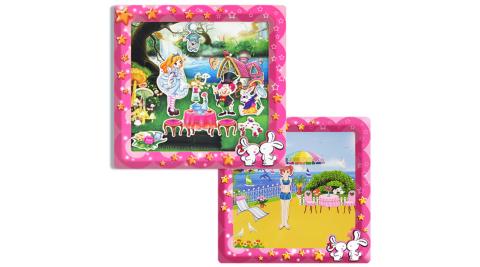 【孩子國】愛麗絲手動畫+貝貝換裝遊戲( 磁鐵書 )