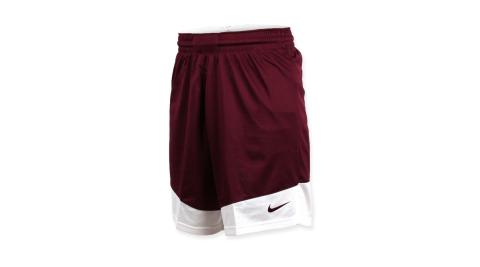 NIKE 男籃球針織短褲-路跑 慢跑 訓練 五分褲 暗紅白@867769670@