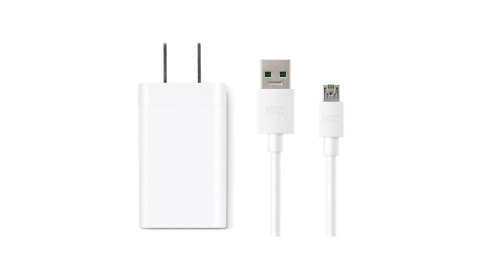 OPPO VOOC mini 新款 原廠閃充電源適配器AK779+USB閃充充電線DL118組 (密封袋裝)