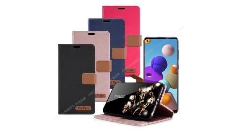 Mystyle for 三星 Samsung Galaxy A21S 經典時代可插卡皮套