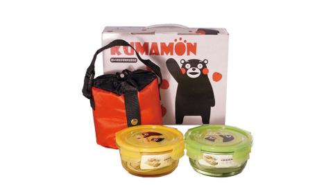 【KUMAMON】酷Ma萌2入炫彩玻璃保溫提袋組 R-1400NK