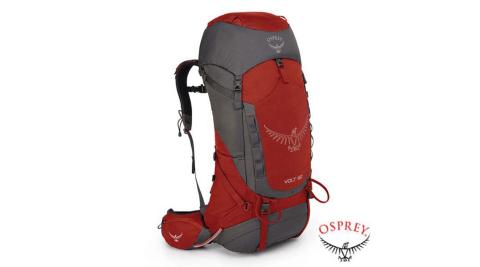 【美國 OSPREY】男新款 New Volt 60L 超輕透氣登山健行後背包/氣流系列.適自助旅行.休閒旅遊_紅