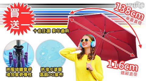 新大無敵龍捲風防風自動雨傘/大無敵/傘/雨傘/買一送一/自動傘/大傘面/雨具/防風
