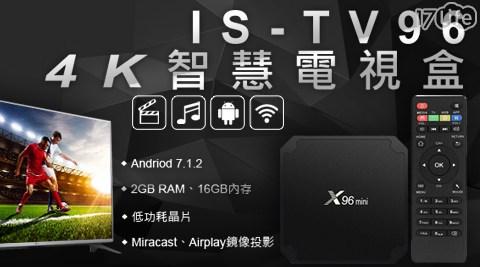 電視盒/4K/播放盒/第四台/安卓/四核心CPU/Miracast/Airplay/鏡像投影/Wi-Fi/無線網路
