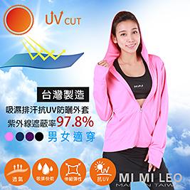 全程台灣製-抗UV連帽6口袋吸濕排汗防曬外套