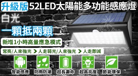升級版52LED太陽能多功能感應燈