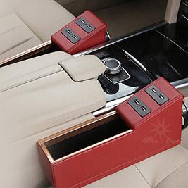 車用USB充電縫隙置物盒