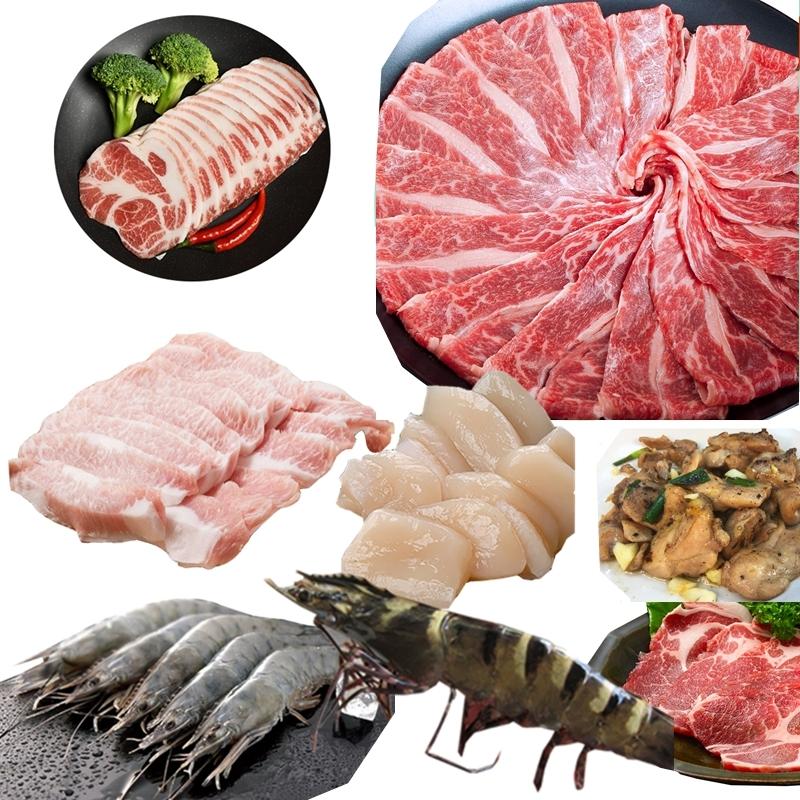 【極鮮配】奢華海陸烤肉套餐(5人份/套) 1套/組