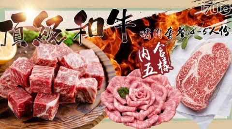 【極鮮配】頂級和牛烤肉套餐(4-5人份) 共