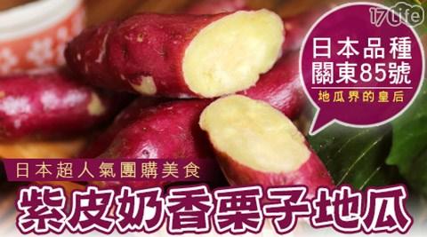 【賀鮮生】超人氣大份量紫皮奶香日本栗子地瓜即食高纖飽足 (1kg/包)