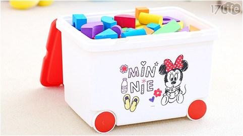 日本IRIS米奇米妮可推拉玩具收納箱