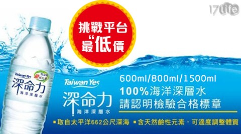 台肥/深命力海洋深層水/Taiwan Yes/礦泉水/飲用水/箱裝水/水/海洋水/鹼性水