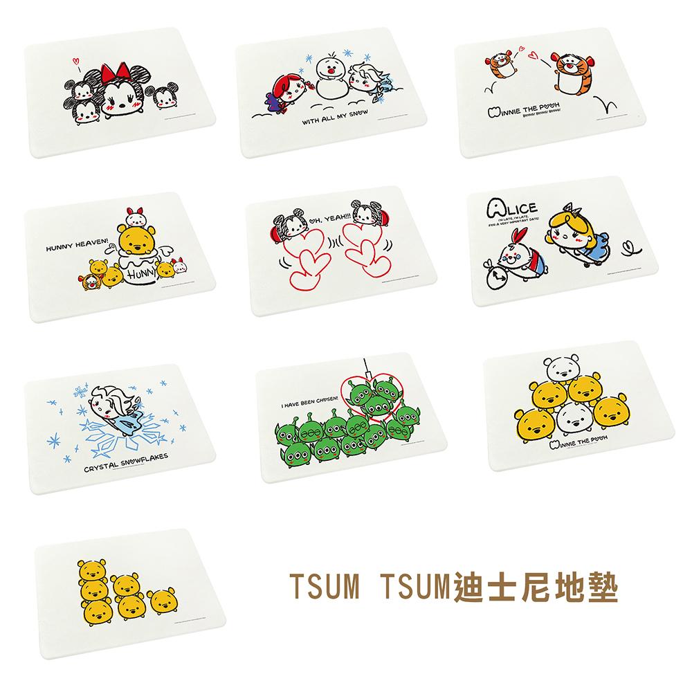 【Disney迪士尼】皮克斯tsum tsum珪藻土地墊 1入/組