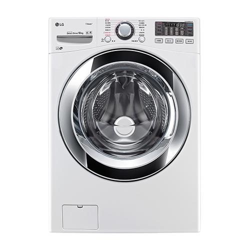【LG 樂金】18公斤 WiFi蒸氣洗脫變頻滾筒洗衣機 WD-S18VBW 1入/組
