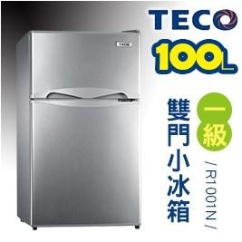 TECO東元-小鮮綠雙門冰箱R1001N