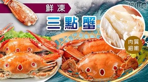 【金鮮】鮮凍三點蟹(公蟹,7~8隻/盒)