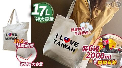 大容量時尚環保棉布購物袋/棉布/環保袋/購物袋/棉布袋/手提袋/收納袋/FUJI GRACE