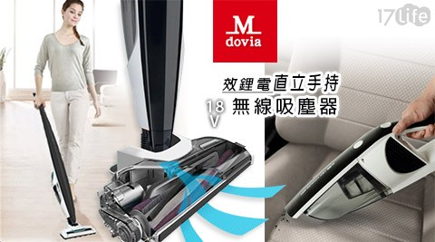 只要 3,980 元 (含運) 即可享有原價 12,800 元 【Mdovia 】高效鋰電直立手持 二合一 18V 無線吸塵器