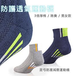 台灣製萊卡厚底透氣短筒運動襪