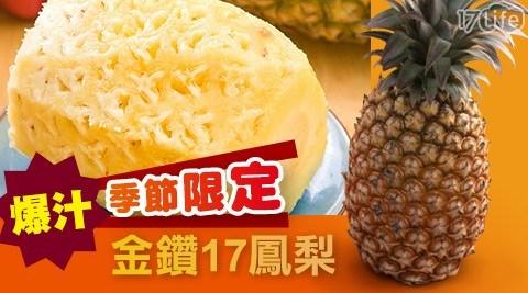 季節限定!黃金爆汁金鑽17鳳梨(9斤/箱)