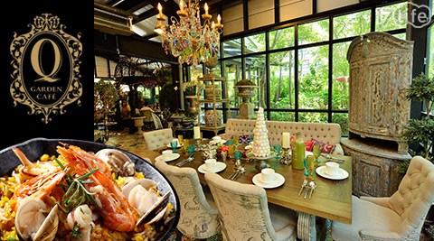 典雅藝術空間裝置,各式精緻義式與輕食料理,還有主廚特製無菜單料理,彷如置身境外花園般的用餐氛圍!