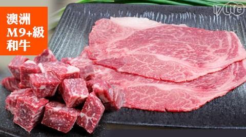 平均每份最低只要299元起(含運)即可購得頂級澳洲M9+和牛系列1份/3份/6份/9份(200g±10%/份),商品:特選明治燒烤火鍋肉片/角切骰子牛。