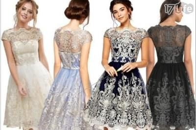 連衣裙/連身裙/洋裝/網紗/刺繡/複古/歐美洋裝/大尺碼